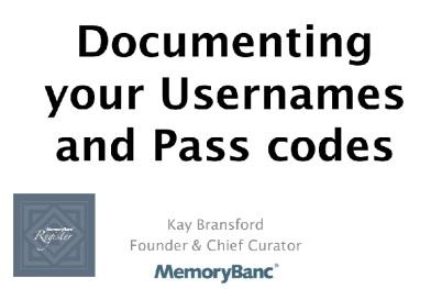 Usernamestutorial